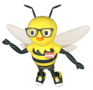 Buzzy with Nametag-1-1