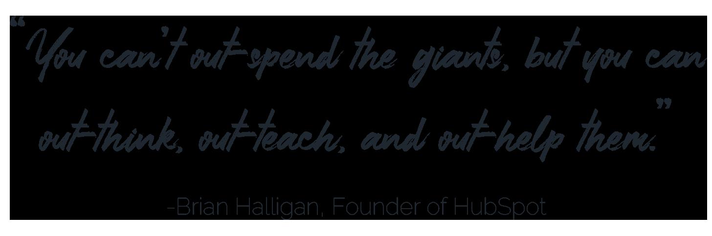 Brian Halligan quote