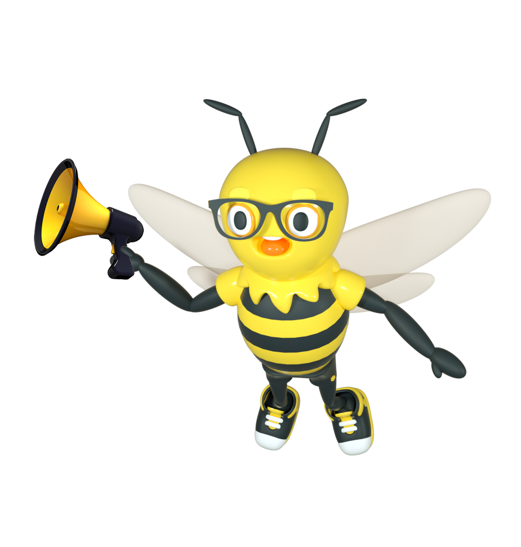Buzzy with Megaphone